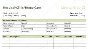 medical store bill format in excel template invoice software and