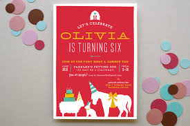 farm party children u0027s birthday party invitations minted