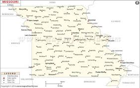 missouri map images buy missouri cities map