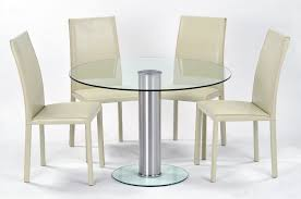 table round glass dining with metal base cabin hall beach style