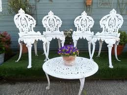 Metal Garden Chairs Cast Metal Garden Chairs U0026 Table Set In Benches And Furniture
