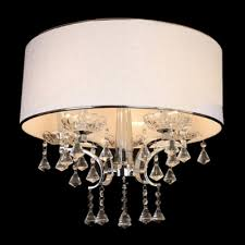 Cream Chandelier Lights Gorgeous Clear Crystal Diamond Droplets Cream Shade Electroplated