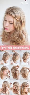 step by step twist hairstyles twist pin rope braided headband hairstyle tutorial hair romance