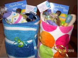 ideas for easter baskets frugal easter idea towel baskets