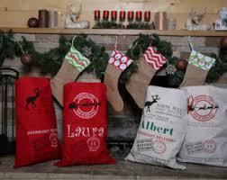 personalized santa sack blank santa sack etsy