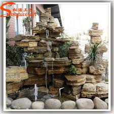 factory direct outdoor fake stone for garden fiberglass artifiical