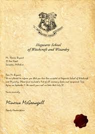 my hogwarts acceptance letter sadly my owl died from the long