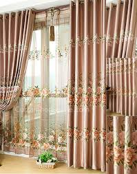 Cheap Primitive Curtains For Living Room by Blinds U0026 Curtains Elegant Silky Floral Pattern Room Darkening