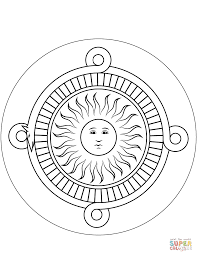 aztec calendar stone coloring page free printable coloring pages
