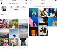 instagram u0027s archive feature goes live letting you hide photos