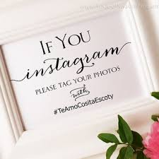 wedding signs template instagram wedding sign lets get social from yougotmysunshine on