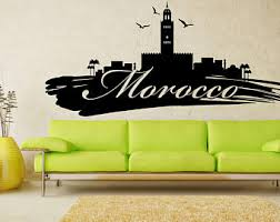 Design House Skyline Yellow Motif Wallpaper Moroccan Wall Decal Etsy