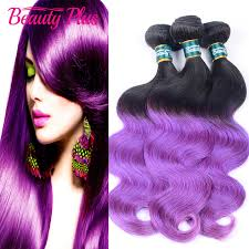 purple hair extensions 3pcs ombre wave dreaming purple hair 7a