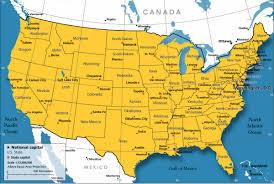 usa map just states usa legend map