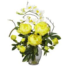 artificial flower arrangements nearly 1175 rd peony and orchid silk flower