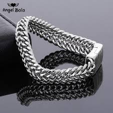 silver link bracelet charms images Ancient silver fashion punk 11 5mm width buddha bracelet for women jpg