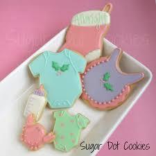 sugar dot cookies baby shower at christmas