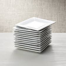 horderve plates boxed 6 appetizer plates set of 12 crate and barrel