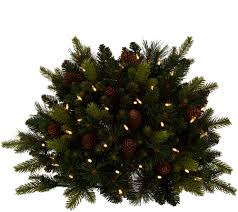 White Christmas Tree With Black Decorations Bethlehem Lights Decorations Trees Candles U2014 Qvc Com