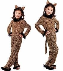 Halloween Cheetah Costumes 1pcs 110to140cm Girls Halloween Cosplay Costume Children Animal