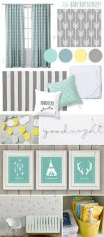 Gray And Yellow Nursery Decor Nursery Mood Board Grey Mint Yellow Boy Room The Mombot The