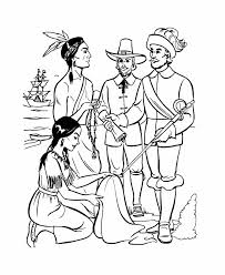 pilgrim indian coloring pages coloring home