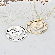 mother necklace images Personalized loop mother necklace with personalized solid heart jpg