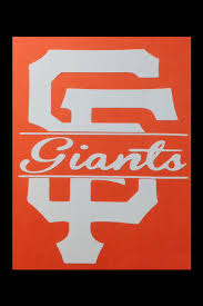 san francisco giants sf logo with cursive giants cut out