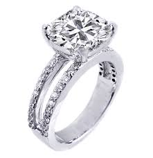 split band engagement rings engagement ring cushion split band engagement ring