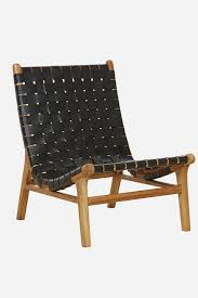 Arm Chair Travel Design Ideas Leather Strapping Tomi Chair Teak Black Home Design Living