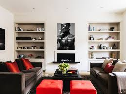 wall art artwork living room wood floor fireplace white sofa crown