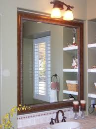 Oval Bathroom Mirror by Oval Bathroom Mirror Ideas Green Glass Tile Backsplash Beige