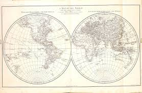 World Map Hemispheres by World Atlas John Blair 1768 U2013 L Brown Collection