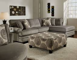 Family Furniture Bedroom Sets New Large Groovy Gray Padded Velvet Sectional With Built In Chaise