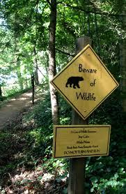 sign on the sunset trail of the grove park inn resort asheville
