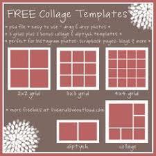 xosarah com six free photo collage templates design blogging
