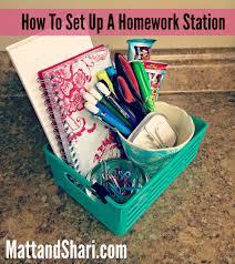 how to set up a homework station matt and shari