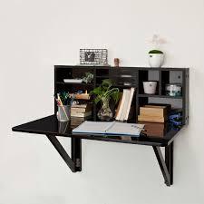 fabriquer table pliante murale sobuy fwt07 sch table murale rabattable avec étagère intégrée