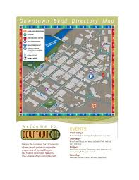 Bend Oregon Map News Downtown Bend