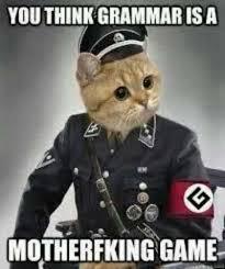 Grammar Meme - dopl3r com memes you think grammar is a motherfcking game