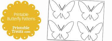 printable butterfly patterns u2014 printable treats com