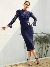 royal blue long sleeve women u0027s bodycon dress tidebuy com