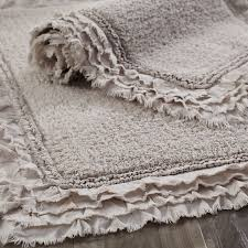 bathroom rug ideas frayed edge dove gray 21x34 bath rug pier 1 imports