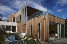 amazing modern architectural house designs with wood wall panels
