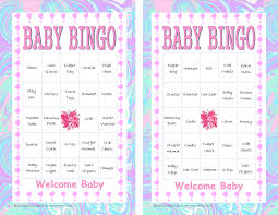 baby shower bingo game 30 guests