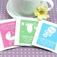 tea bag favors personalized baby silhouette tea bag favors gift baskets