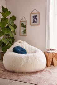 home design faux fur bean bag chair pottery barn u2014 bags and