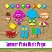 printable photo booth props summer summer time photo booth props and decorations end of year printable