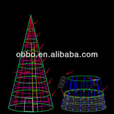 tower design spiral light tree for shopping center
