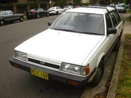 classic subaru wagon aussie old parked cars 1989 subaru l series 4wd wagon